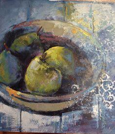 Paintings I Love, Oil Paintings, Still Life Oil Painting, Still Life Art, Fruit Art, Mixed Media Collage, White Art, Van Gogh, Flower Art