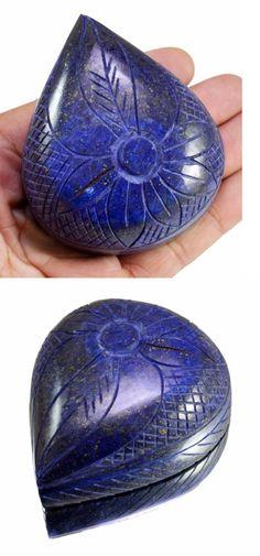 Lapis Lazuli 10235: 1280Ct Big Huge Natural Floral Art Work Hand Carved Lapis Lazuli Loose Gemstone -> BUY IT NOW ONLY: $36.73 on eBay!