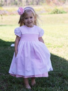 White and Pink Girls Hand Smocked Dress Smocked Dresses For Girls, Girls White Dress, Flower Girl Dresses, Easter Outfit, Easter Dress, Girls Special Occasion Dresses, First Communion Dresses, Sailor Dress, Girls Hand