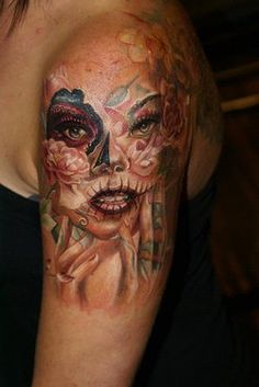 ~Sugar Skull Girl~~ very cool, I would add really awesome hair to her.