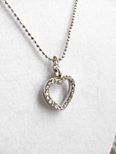 One Jeweled Heart Necklace by arianaalysedesigns on Etsy, $16.00