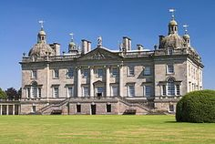 Houghton Hall ( /ˈhaʊtən/ HOW-tən)[1] is a country house in Norfolk, England. It was built for the de facto first British Prime Minister, Sir Robert Walpole, and it is a key building in the history of Palladian architecture in England. It is a Grade I listed building[2] surrounded by 1,000 acres (4.0 km2) of parkland adjacent to Sandringham House.