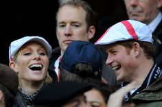 Prince Harry and Zara Phillips - England v France - RBS Six Nations