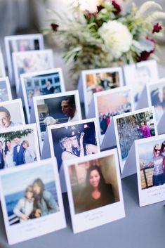 Modern + unique wedding escort card idea - escort cards featured Polaroid pictures of each guest {Megan Clouse Photography} Diy Wedding, Wedding Photos, Wedding Dress, Trendy Wedding, Wedding Blog, Wedding Favors, Wedding Ceremony, Wedding Name Cards, Wedding Escort Card Ideas