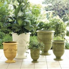 Toulon Planter | Ballard Designs - currently on sale - LOVE these Tuscan/French Country style pots!!