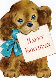 Best Birthday Quotes : Birthday Card Little Pup Happy Birthday Vintage, Happy Birthday Wishes Cards, Birthday Blessings, Happy Birthday Images, Birthday Pictures, Birthday Greeting Cards, Birthday Fun, Birthday Wishes For Kids, Happy Birthday Dog