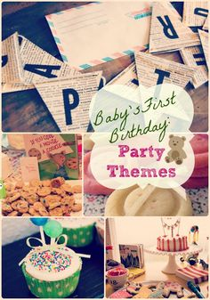 There's nothing quite as special as your baby's #first #birthday.  Celebrate in style for the little tike for these clever 1st birthday party ideas and themes! All themes and related pins covered in the blog and Pinterest boards!