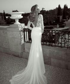 wedding dress; gown; silk; lace