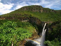 Salto do Rio Preto em Alto Paraíso (Foto: Ion David/Travessia Ecoturismo)