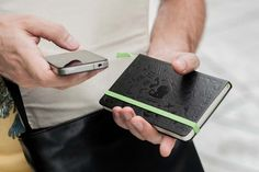The comfort of sketching by hand and having it digital as well.    Moleskine x Evernote Smart Notebook | Hypebeast