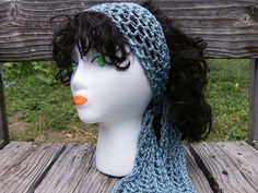10 Free Crochet Head Wrap Patterns (including ear warmers and headbands): Gypsy Head Scarf Free Crochet Pattern. - Crochet and Knit Crochet Scarves, Crochet Clothes, Crochet Hats, Chunky Crochet, Blanket Crochet, Crochet Granny, Crochet Hair Accessories, Crochet Hair Styles, Head Accessories
