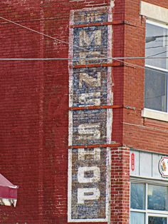 A vintage ghost sign in Cherryvale, Kansas