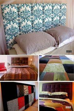 DIY  cabecero de tela para tu cama