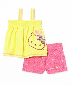 Look at this Hello Kitty Aspen Gold Sequin Tank & Pink Leopard Shorts - Toddler & Girls on today! Leopard Shorts, Pink Leopard, World's Cutest Girl, Cute Girls, Little Girls, Hello Kitty Clothes, Sequin Tank, Aspen, Toddler Girls