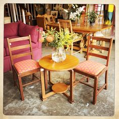 ANOUK offers an eclectic mix of vintage/retro furniture & décor.  Visit us: Instagram: @AnoukFurniture  Facebook: AnoukFurnitureDecor   October 2015 Cape Town, SA. Coffee Table With Chairs, Table And Chairs, Dining Chairs, Outdoor Furniture Sets, Outdoor Decor, Decoration, Cape, Art Deco, Photo And Video