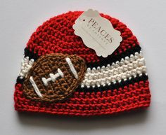 Kansas City Chiefs / Tampa Bay Buccaneers Inspired Football Beanie Hat for Baby or Child - Peaces by Cortney