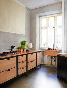 Afbeeldingsresultaat voor betonplex keuken