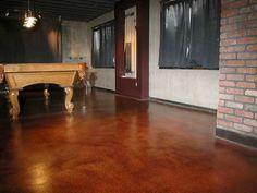 Paint Concrete Floors With Cool Colors