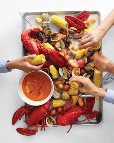 Stove-Top Clambake | idea for our 'Fish Fry!'