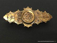 Gioielli e bigiotteria - Spille antiche Spilla Vittoriana - Antica spilla oro 15 ct. Immagine n°1
