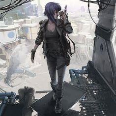 Female Character Design, Character Creation, Character Concept, What Is Cyberpunk, Cyberpunk Art, Motoko Kusanagi, Neon Nights, Old Anime, Ghost In The Shell
