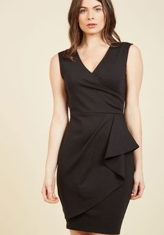 """Public Speaking Highly of You Sheath Dress in Black 