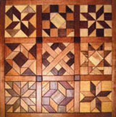 quilt pattern with wood | Geo Shaped Wood Quilt #1 Intarsia Project Pattern