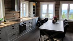 Hytte on Pinterest Window Styles, Rustic Living Rooms and Cottage In