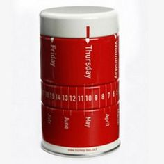 Mini Calendar Red Tin Container for Office Decor with Pushpins, Paper Clips and Elastic Bands (Office Product)  http://www.99homedecors.com/  B00153948K