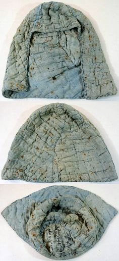 Kusari zukin (mail hood), the kusari is sewn between layers of cloth which hide it from being seen.