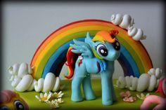 Cake Topper Rainbow Dash 3