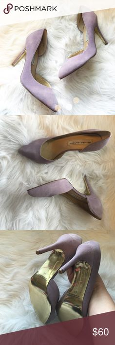 Gorgeous Chinese Laundry x Kristin Cavallari Heels So pretty and perfect for any season! Light lilac purple suede with gold bottoms. Like new, worn once. No trades!! 06171640gwf Chinese Laundry Shoes Heels
