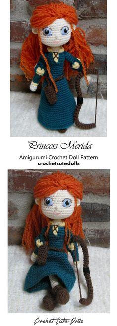Amigurumi Crochet Doll Pattern & Tutorial for the Princess Merida from Brave by Crochet Cute Dolls