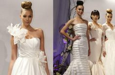 top bun hairstyle   ... 2013 Wedding Hair Trends from Bridal Market Dennis Basso Top Knot Buns