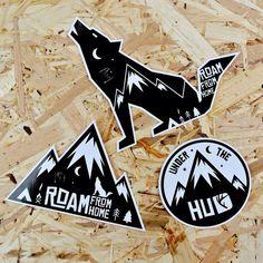 Roam Vinyl Sticker/Wolf Sticker/Adventure Sticker/Travel Sticker/Camping Sticker/Mountain Sticker/Laptop Sticker/Car Sticker/Helmet Sticker