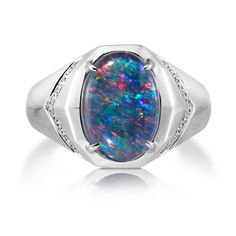A personal favorite from my Etsy shop https://www.etsy.com/listing/398698391/natural-black-opal-ring-18k-white-gold