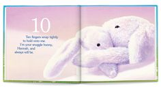 Spread from 'My Snuggle Bunny' personalized book. Virtual Tour - I See Me! #BeautifulBabyShower