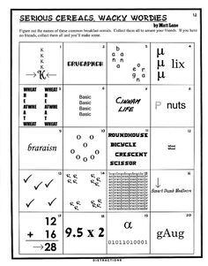 math worksheet : free word puzzles  bamboozables  puzzle 23  mind games  : Middle School Brain Teasers
