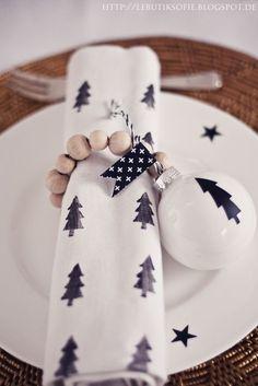 10 idées de décoration de table de Noël ...// My Little Home Blog