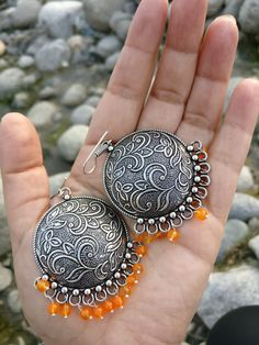 Silver Earrings With Pearls Tribal Earrings, Tribal Jewelry, Metal Jewelry, Jewelry Art, Antique Jewelry, Silver Earrings, Silver Jewelry, Bohemian Jewellery, Gypsy Jewelry