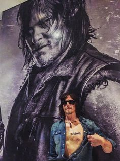 Norman with Daryl! Norman Reedus, Darryl Dixon, Fear The Walking Dead, Walking Man, Stuff And Thangs, Entertainment Weekly, Dead Man, Zombie Apocalypse, Best Shows Ever