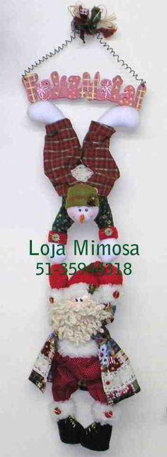 Descargar: Muñeco de Nieve con papa noel colgantes | EcoArtesanias.com