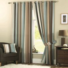 Dreams n Drapes Whitworth Duck Egg Lined Curtains- | Debenhams
