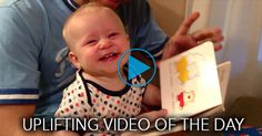 Uplifting Video: Baby Can't Stop Laughing at Book