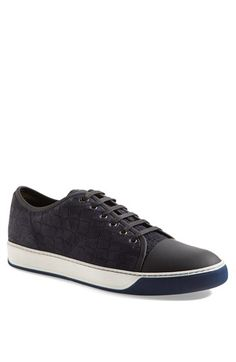 Lanvin Embossed Nubuck Low Top Sneaker (Men) available at #Nordstrom