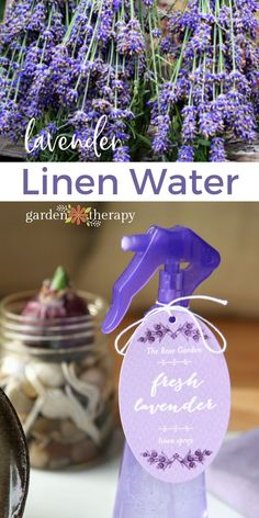 This lightly scented lavender linen water is a must for the laundry room. Use it to fill up your iron to freshen while pressing. Pour it into a spray bottle and mist linens fresh from the wash or those that have been stored for awhile. All-natural ingredients mean this spray is gentle with a delicate scent that doesn't overwhelm the senses, making this a wonderful recipe to add to your regular laundry routine. #gardentherapy #lavender #allnaturalcleaning #diy #cleaningtips Homemade Lip Balm, Homemade Soap Recipes, Diy Natural Beauty Recipes, Lavender Scent, Drying Lavender, Linen Spray, Home Made Soap, Spray Bottle, Wonderful Recipe