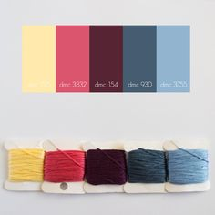color palette, embroidery floss