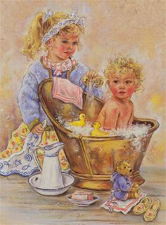 christine haworth art - Page 4 Vintage Greeting Cards, Vintage Postcards, Artists For Kids, Art For Kids, Art Mignon, Sweet Pic, Cute Images, Pics Art, Painting For Kids