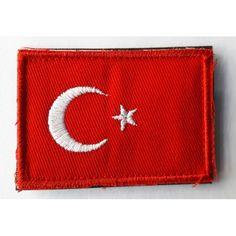 AIRSOFT : Türk Bayrağı Patch Kırmızı/Beyaz
