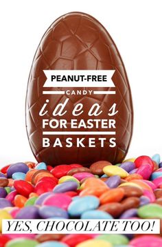 Looking for peanut-free Easter candy ideas for your basket? Check out these goodies! Yes, there's even some yummy chocolate on the list!